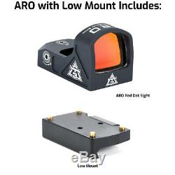 AT3 Tactical ARO Micro Red Dot Sight 3 MOA Reticle Fastfire/Venom Compatible