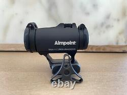 Aimpoint Micro H-2 2 MOA Red Dot Reflex Sight + Wilson Combat Accu-Rizer Mount