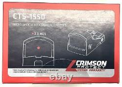 Crimson Trace CTS-1550 Red Dot Sight 3 MOA Micro Reflex optic. $1 NR