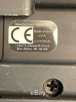 EOtech L3 512-A65 Holographic 1 moa Red Dot Sight Scope Free Rear Flip Sight