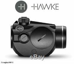 HAWKE 12105 Vantage Rotpunkt 1x20 9-11mm 3 MOA RedDot Leuchtpunkt Rotpunktvisier