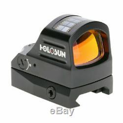 HOLOSUN HS407C Micro Red Dot Reflex Sight Solar Panel 2moa Dot