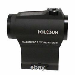 HOLOSUN HS503CU Paralow Red Dot Sight 1X, 2 MOA Dot & 65 MOA Circle, Matte Black