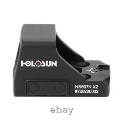 HOLOSUN HS507K X2 Red Dot Handgun Reflex Sight 2MOA Dot 32MOA Circle FAST SHIP