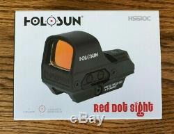 HOLOSUN HS510C 65MOA Circle 2MOA Red Dot Open Reflex 1X Sight Solar OPEN BOX