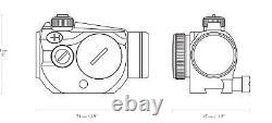 Hawke Vantage Red Dot Sight 1x20 9-11mm Dovetail Base 3 MOA + Sunshade 12105
