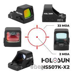 Holosun Circle Red Dot/Shake Awake/Compact HS507K Reticle 2MOA Dot 32 MOA Circle