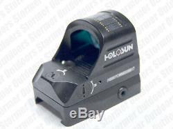 Holosun HS407C 2 MOA Dot Shake Awake Solar Powered Micro Pistol Red Dot Sight