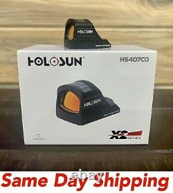 Holosun HS407C X2 Red Dot Handgun Open Reflex Sight 2 MOA RMR-compat