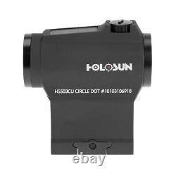 Holosun HS503CU SolarMicro Red Dot 65MOA Circle Dot 2MOA with Mounts FAST SHIP