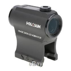 Holosun Red Dot HS403C Solar/Battery 2 MOA Dot Low Mount and 1/3 CoWitness