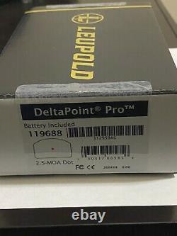 Leupold Delta Point Pro Red Dot Optic (2.5 MOA)