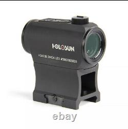 New Holosun Micro Red Dot Sight 2 MOA Dot With 1/3 Co-Witness Mount HS403B