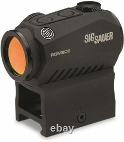 New Sig Sauer Romeo 5 1x20mm 2 MOA Red Dot Sight with Mounts SOR52001