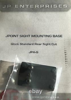SHIELD REFLEX MINI SIGHT RMS 4 MOA RED DOT & DOVETAIL MOUNT KIT for GLOCK PISTOL