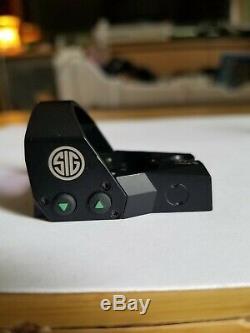 SIG SAUER Romeo1 1x30mm Reflex Sight 3 MOA Red Dot Screws/Cap read description