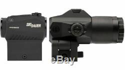 SIG SAUER Romeo 5 Red Dot Sight 2 MOA With Juliet 4 3x Magnifier SORJ53101 BUNDLE
