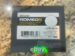 SIG SAUER SOR52001 ROMEO5 1x20mm 2 MOA Red Dot Sight, Black