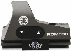 Sig Sauer ROMEO3 1x25 mm Reflex Sight 1 MOA Red Dot with Riser ROMEO 3 SOR31002