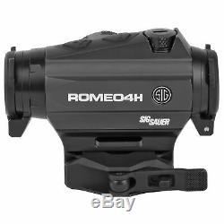 Sig Sauer ROMEO4H Red Dot Sight Ballistic Circle Dot/2 MOA Adjustment SOR43011