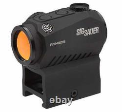 Sig Sauer ROMEO5 Compact Red Dot Sight 1X20MM, 2 MOA Dot, 1/2 MOA Adjustments, M