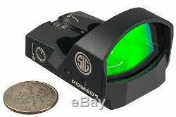 Sig Sauer Romeo1 Reflex Sight, 1x30mm, 6 MOA Red Dot, 1.0 MOA SOR11600