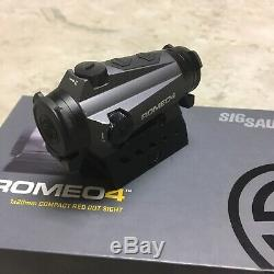 Sig Sauer Romeo4B Used Red Dot 1X20 LowithCo QD Mount. 5MOA SOR41101 Graphite