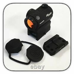 Sig Sauer Romeo 5 1x20mm 2 MOA Red Dot Sight with Mounts SOR52001