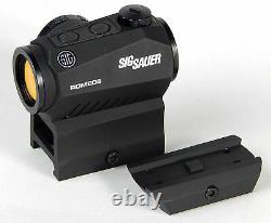 Sig Sauer Romeo 5 1x20mm 2 MOA Red Dot Sight with Mounts SOR52001 (Black)