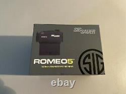Sig Sauer Romeo 5 1x20mm 2 MOA Red Dot Sight with Mounts SOR52001 Open Box