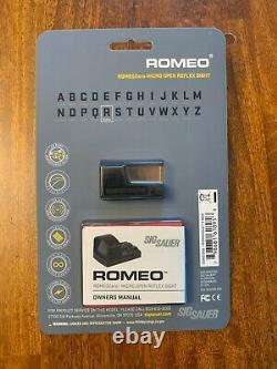 Sig Sauer Romeo Zero 1x Red Dot Sight, 3 MOA for P365XL, Black, SOR01300