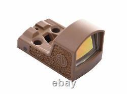 Sig Sauer SOR01303 FDE Romeo0 P365 XL 3 MOA Red Dot Micro Sight Zero