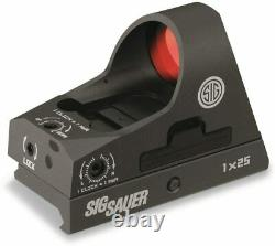 Sig Sauer SOR31002 Romeo 3 Miniature Reflex Sight withRiser 1x25mm 3 MOA Red Dot