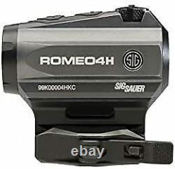 Sig Sauer SOR43011 Romeo4H 2 MOA 1x20mm Red Dot Sight, Graphite