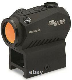 Sig Sauer SOR52001 Romeo 5 1x20mm 2 MOA Red Dot Sight with Mounts NIB