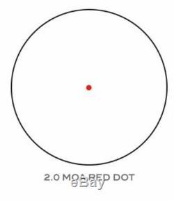Trijicon 1x25 MRO Patrol 2.0 MOA ADJ Red Dot Sight No Mount, Black, 2200017