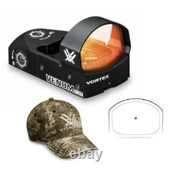 Vortex 6 MOA Venom Red Dot Sight with Vortex Hat (Color May Vary)