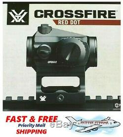 Vortex Crossfire 1X Red Dot Sight, Multi Height Mount, 2 MOA Dot Reticle CF-RD1