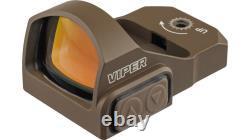 Vortex OPMOD Viper 1x24mm 6 MOA Red Dot Sight, FDE Reflex Red Dot VRD-6-OP-KIT3