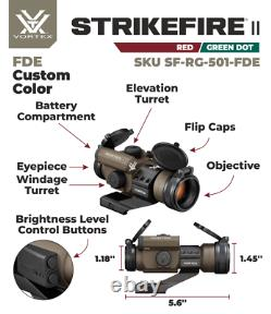 Vortex Optics StrikeFire II 4 MOA Red Dot Scope CUSTOMIZED ITEM