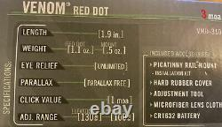 Vortex Venom Red Dot Sight 3 MOA Dot FREE SHIPPING